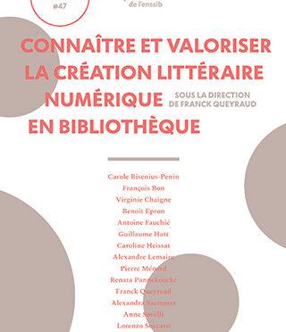 Notes de lecture : Connaître et valoriser la création littéraire numérique en bibliothèque