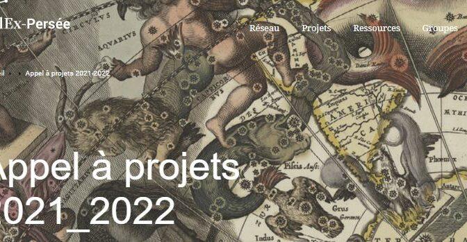 Nouvel appel à projets collaboratifs CollEx-Persée #AAPCollExPersée21_22
